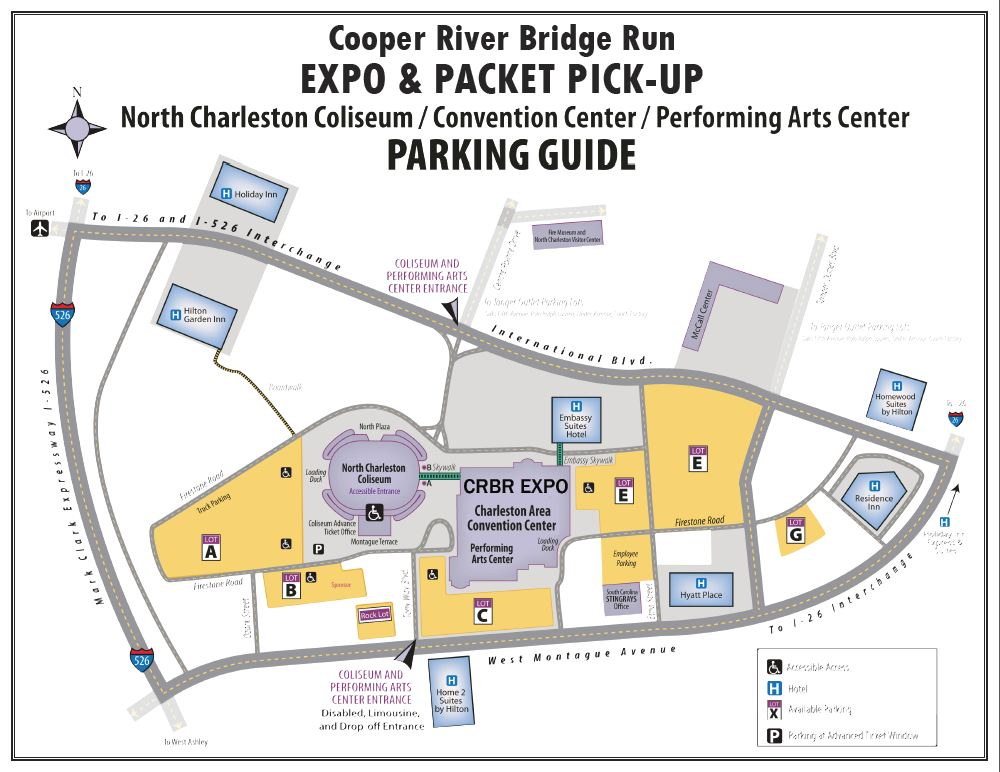 Cooper River Bridge Run Maps