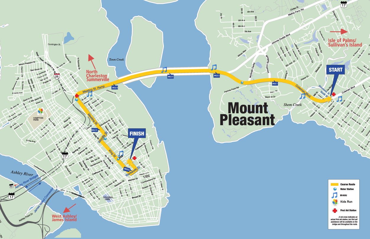 Cooper River Bridge Run Maps